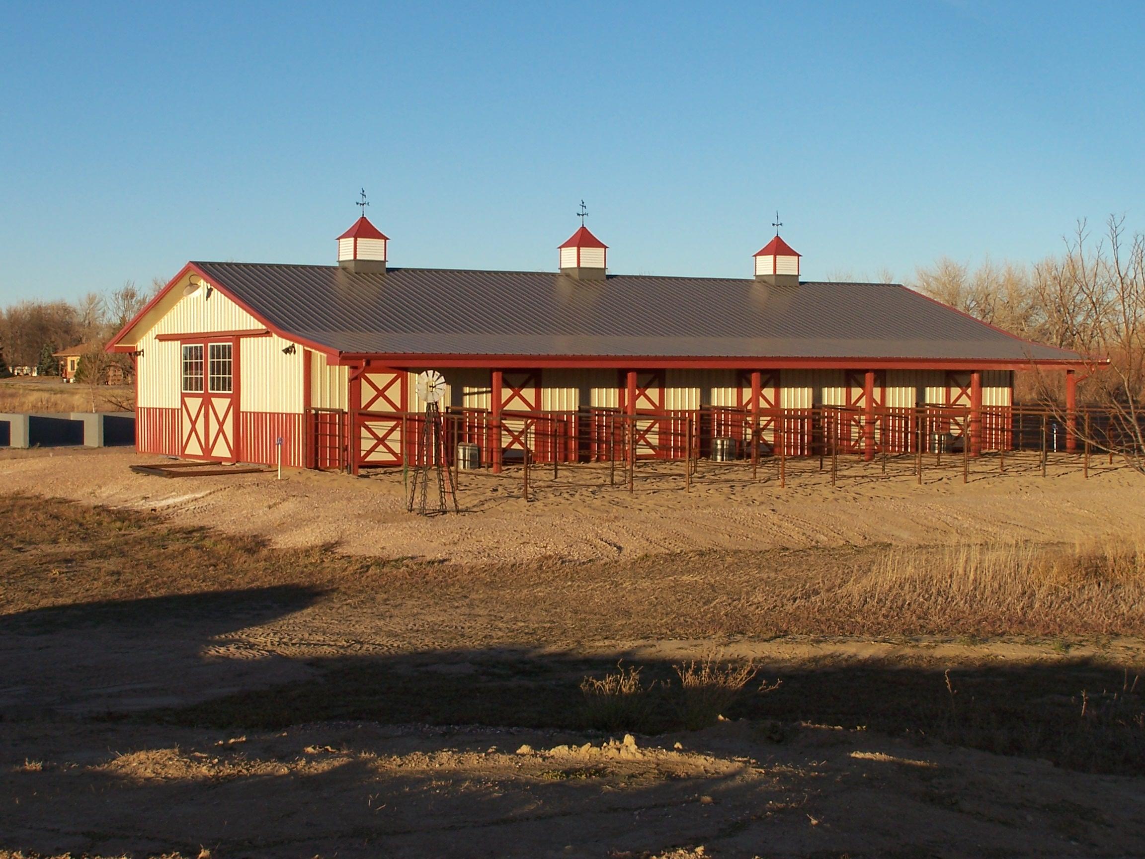 Horse Barns Clark Enterprises Construction Company